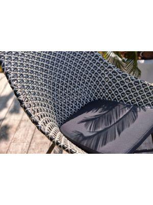 Hartman Delphine Lounge Kussen - B47 x D47 x H5 cm - Anti Slip - Havana Dark Grey