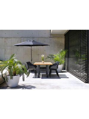 Hartman Sophie Rondo Organic Tuinstoel Carbon Black - Set van 2