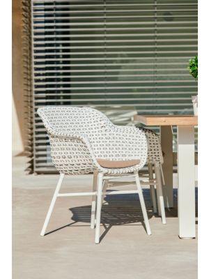 Hartman SALE - Delphine Dining Tuinstoel Moccacino Wicker - Set van 4 - NU met gratis zitkussens t.w.v. € 29,90