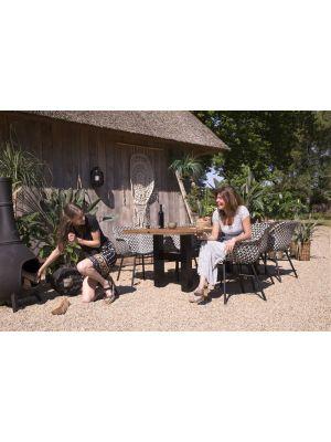 Hartman Delphine Yasmani Actieset 3 - Sophie Yasmani Tafel 240 cm + 6 Delphine Dining Stoelen