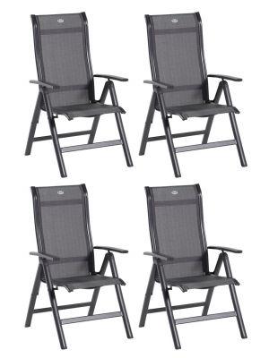 Hartman Alice Comfort Recliner - Set van 4 - Tuinstoel & Terrasstoel - Antraciet Aluminium