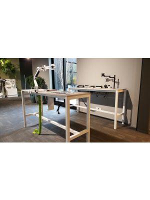 24Designs Hoge Bartafel Werktafel en Statafel Block - L160 x B60 x H110 cm - Wit