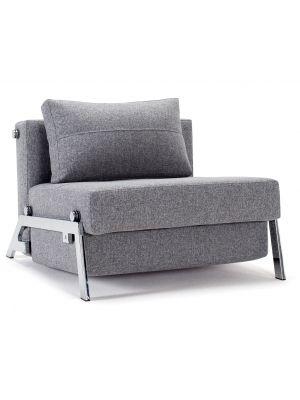 Innovation Cubed 90 Slaapbank - Twist Granite 565 - Chroom