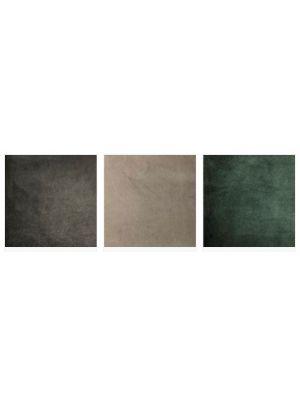 24Designs Mattia Velvet Stoel - Set van 4 - Groen Fluweel - Zwarte Metalen Poten