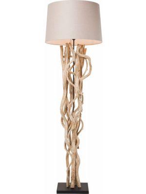Kare Design Vloerlamp Scultra 1-Lichts Ø55 x H150 cm - Beige