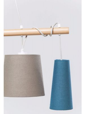Kare Design Verstelbare Hanglamp Parecchi Nordic 5-Lichts B100 cm - Multikleur