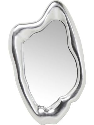 Kare Design Hologram Spiegel - B68 x D9 x H117 cm - Mat Zilverkleurig