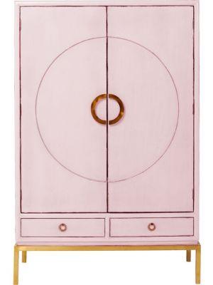 Kare Design Disk Pink Kledingkast - B120 x D55 x H180 cm - Roze