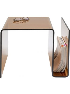 Kare Design Bijzettafel Visible Amber - B38 x D48 x H42 cm - Glas