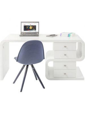 Kare Design Bureau White Club Snake Desk - B150 x D70 x H76 cm - Mat Wit