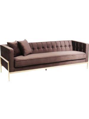 Kare Design Loft Bank 3-zits - Breedte 229 cm - Stof Bruin