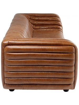 Kare Design Moreno 3-Zits Bank - B251 x D98 x H68 cm - Leer Cognac