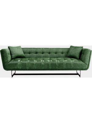 Kare Design Nashville 3-zits - Breedte 224 cm - Gemêleerde Groene Stof