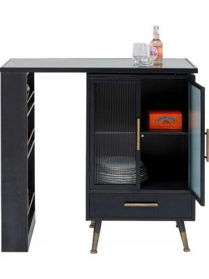 Kare Design La Gomera Bartafel 2-Deurs - B90x D40 x H92cm - Zwart Metaal