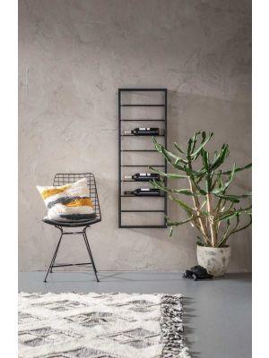 Kare Design Bistro Hangend Wijnrek - B42 x D6 x H120 cm - Zwart Metaal