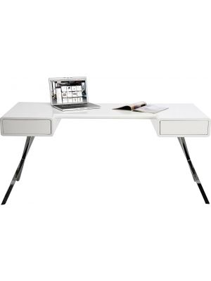 Kare Design Desk Insider Bureau - B160 x D75 x H74 cm - Hoogglans Wit