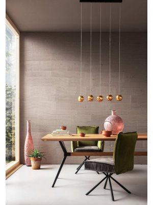 Kare Design Chelsea Velvet Stoel - Set van 2 - Groen/Grijs bruin Fluweel