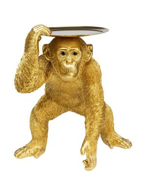 Kare Design Chimpansee Bijzettafel - B44,5 x D36,5 x H52 cm - Goudkleurig