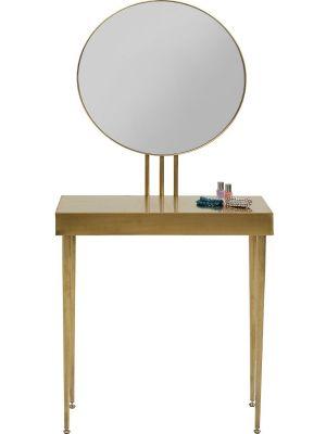 Kare Design Curve Tafel & Spiegel - B70 x D32 x H153 cm - Goudkleur