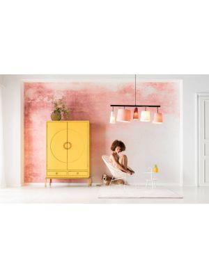 Kare Design Disk Yellow Kledingkast - 120x55x180 - Geel