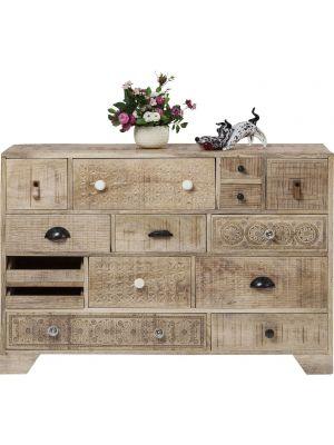 Kare Design Dressoir Puro 14 lades - L115 x B35 x H80 cm - Mangohout
