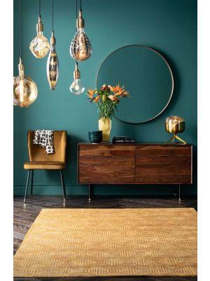 Kare Design Ravello Dressoir - B140 x D45 x H68 cm - Sheeshamhout - Zwarte Metalen Poten
