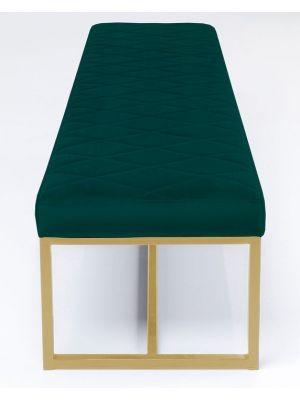 Kare Design Smart Dark Green Bankje - B150 x D40 x H40 cm - Groen