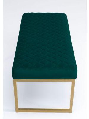 Kare Design Smart Dark Green Bankje - B90 x D40 x H40 cm - Groen
