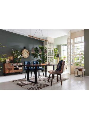 Kare Design Black Nature Walnut Eettafel - L180 x B90 x H76 cm - Walnoot