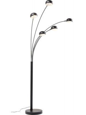 Kare Design Five Fingers Vloerlamp - Hoogte 201 cm - Mat Zwart Metaal