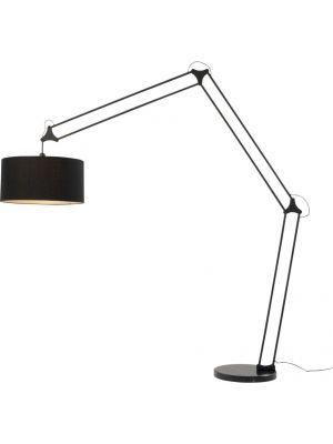 Kare Design Geometry Verstelbare XL Vloerlamp - Hoogte 220 cm - Mat Zwart Metaal