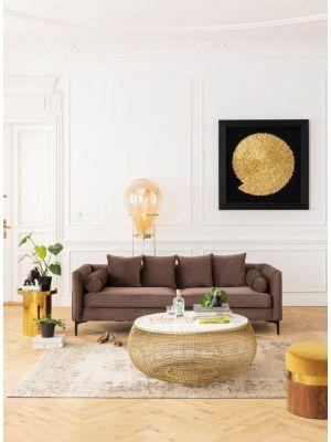 Kare Design Golden Snail Wanddecoratie - B120 x D5 x H120 cm - Goudkleurig met Zwarte Lijst