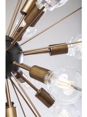 Kare Design Hanglamp Crystal Bomb Ø93cm - 18 Lichts - Messing