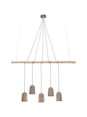 Kare Design Dining Concrete 5-Lichts Hanglamp - Grijs Beton