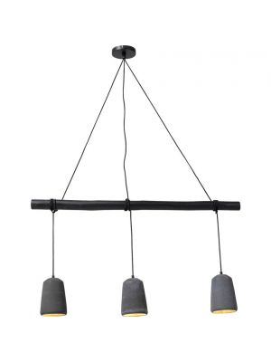 Kare Design Dining Concrete 3-Lichts Hanglamp - Zwart