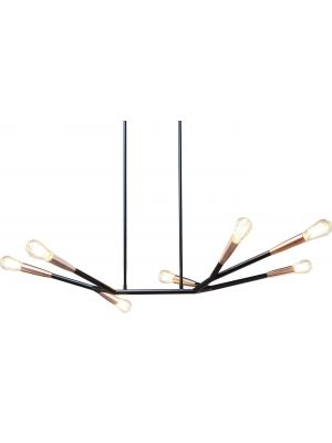 Kare Design Hanglamp Monte Carlo Sette 7 Lichts - Koper
