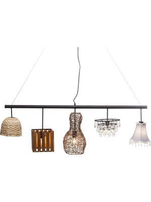 Kare Design Verstelbare Hanglamp Parecchi Art House 5-Lichts B150 cm - Multikleur