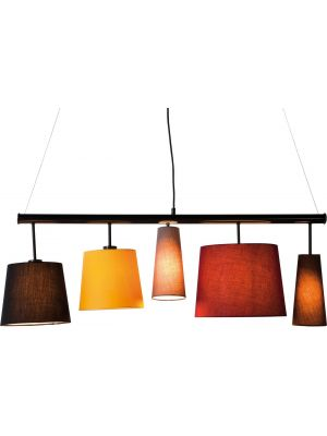 Kare Design Verstelbare Hanglamp Parecchi Colore 5-Lichts B100 cm - Multikleur