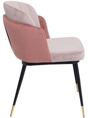 Kare Design Hojas Velvet Stoel - Set van 2 - Roze Fluweel