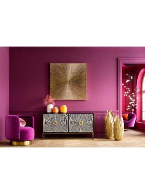 Kare Design Illumino Wanddecoratie - 120 x 4 x 120 cm - Goudkleurig