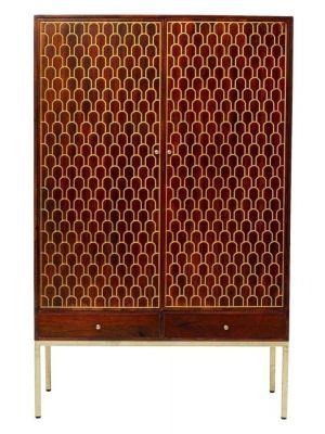 Kare Design Muskat Garderobekast - B115 x D54 x H180 cm - Mangohout Bruin