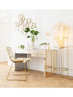 Kare Design Luxury Bureau - B140xD60,5xH77,5 cm - Spiegelglas Champagne
