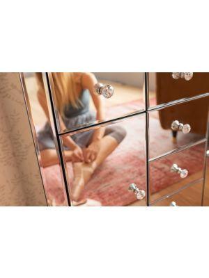 Kare Design Luxury Dressoir 2-Deuren/6-Laden - B88xD41xH83,5 cm - Spiegelglas