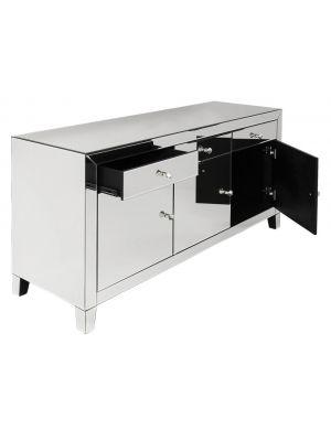 Kare Design Luxury Dressoir 3-deuren/3-lades - B140,5xD45xH77 cm - Spiegelglas