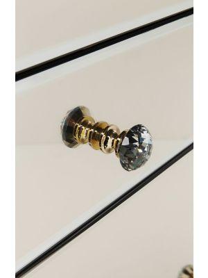 Kare Design Luxury Dressoir 3-Deuren/3-Lades - B140,5xD45xH77 cm - Spiegelglas Champagne