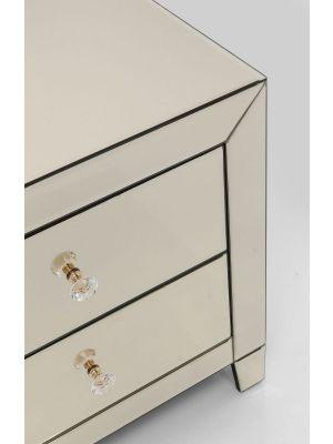 Kare Design Luxury Ladekast 2-Laden - B49xD41xH50 cm - Spiegelglas Champagne