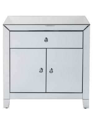 Kare Design Luxury Opbergkast 2-deuren/1-lade - B71xD41xH76 cm - Spiegelglas