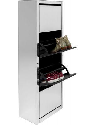 Kare Design Luxury Schoenenkast 4-Vakken - B55xD30xH162 cm - Spiegelglas