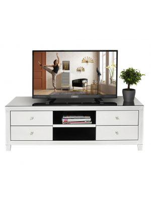 Kare Design Luxury TV-Meubel 2-Vakken/4-Lades - B140xD45xH50 cm - Spiegelglas