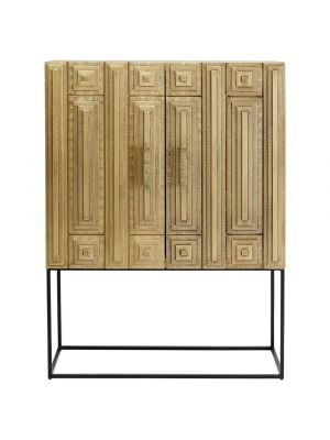 Kare Design Barkast Marrakesh - B100x D42 x H140 cm - Goudkleurig